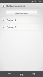 Sony Xperia Z3 4G (D6603) - Contacten en data - Contacten kopiëren van SIM naar toestel - Stap 7