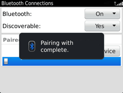 BlackBerry 9360 Curve - Bluetooth - Pair with another device - Step 11