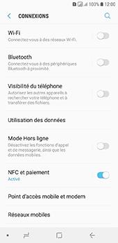 Samsung Galaxy A6 - Internet et connexion - Utiliser le mode modem par USB - Étape 5