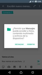 Sony Xperia E5 (F3313) - Mensajería - Escribir y enviar un mensaje multimedia - Paso 13