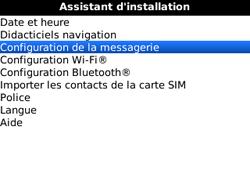 BlackBerry curve 3G - E-mails - Ajouter ou modifier un compte e-mail - Étape 5