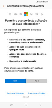 Samsung Galaxy S8 Plus - Email - Adicionar conta de email -  8