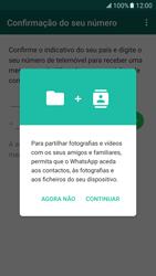 Samsung Galaxy S7 - Aplicações - Como configurar o WhatsApp -  7