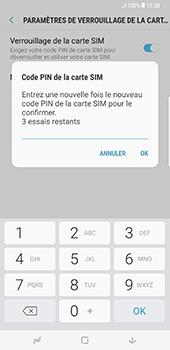 Samsung Galaxy S8+ - Sécuriser votre mobile - Personnaliser le code PIN de votre carte SIM - Étape 10