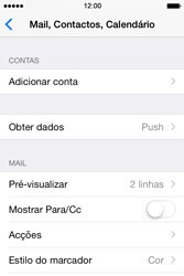 Apple iPhone 4S iOS 8 - Email - Configurar a conta de Email -  25