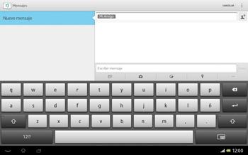Sony Xperia Tablet Z - Mensajería - Escribir y enviar un mensaje multimedia - Paso 9