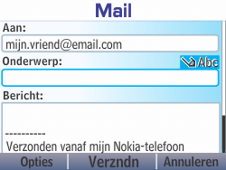 Nokia Asha 210 - E-mail - Hoe te versturen - Stap 10