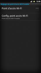 Sony Xpéria S - Internet et connexion - Partager votre connexion en Wi-Fi - Étape 7