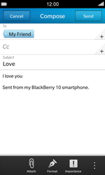 BlackBerry Z10 - E-mail - Sending emails - Step 12