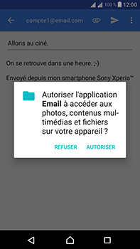 Sony Xperia L1 - E-mail - Envoi d