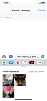 Apple iPhone XS - MMS - envoi d'images - Étape 8