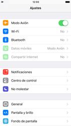 Apple iPhone 6 iOS 10 - Funciones básicas - Activar o desactivar el modo avión - Paso 4