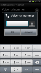Sony Ericsson Xperia Ray - Voicemail - handmatig instellen - Stap 8