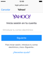 Apple iPhone 5s iOS 10 - E-mail - Configurar Yahoo! - Paso 6