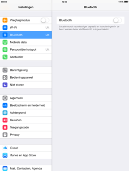 Apple iPad Air (Retina) met iOS 8 - Bluetooth - Aanzetten - Stap 3