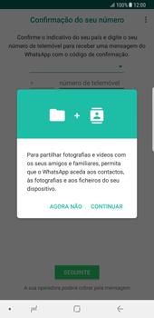 Samsung Galaxy Note 8 - Aplicações - Como configurar o WhatsApp -  6