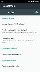 Motorola Moto C Plus - Internet et connexion - Partager votre connexion en Wi-Fi - Étape 11