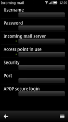 Nokia 700 - Email - Manual configuration POP3 with SMTP verification - Step 17