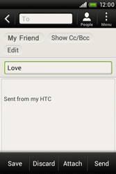 HTC A320e Desire C - Email - Sending an email message - Step 9