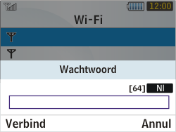 Samsung S3350 Chat 335 - Wifi - handmatig instellen - Stap 6