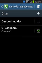 Samsung S6293T Galaxy Young Plus - Chamadas - Como bloquear chamadas de um número específico - Etapa 13