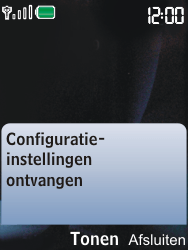 Nokia 6600i slide - MMS - Automatisch instellen - Stap 3