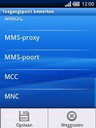 Sony Ericsson Xperia X10 Mini - Internet - Handmatig instellen - Stap 11