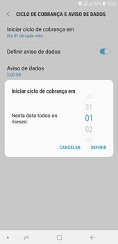 Samsung J4+ - Rede móvel - Como definir um aviso e limite de uso de dados - Etapa 8