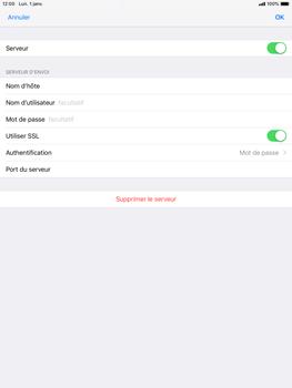 Apple iPad Mini 3 - iOS 12 - E-mail - Configurer l