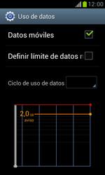 Samsung S7560 Galaxy Trend - Internet - Ver uso de datos - Paso 5