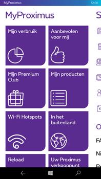 Microsoft Lumia 950 XL - Applicaties - MyProximus - Stap 15