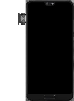 Huawei P20 - Premiers pas - Insérer la carte SIM - Étape 3