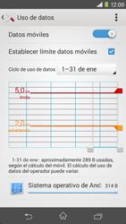 Sony Xperia M2 - Internet - Ver uso de datos - Paso 10