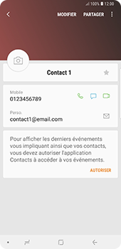 Samsung Galaxy Note 9 - Contact, Appels, SMS/MMS - Ajouter un contact - Étape 14