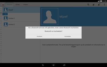 Sony Xperia Tablet Z2 4G (SGP521) - Contacten en data - Contacten overzetten via Bluetooth - Stap 11