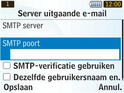 Samsung S3350 Chat 335 - E-mail - Handmatig instellen - Stap 18
