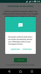 Sony Xperia X Dual SIM (F5122) - Aplicações - Como configurar o WhatsApp -  12