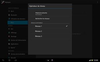 Sony SGP321 Xperia Tablet Z LTE - Réseau - utilisation à l'étranger - Étape 13