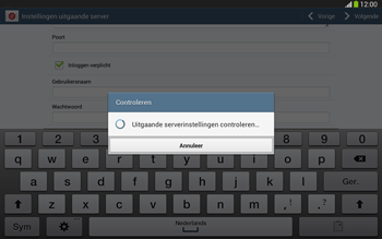 Samsung P5220 Galaxy Tab 3 10-1 LTE - E-mail - e-mail instellen: IMAP (aanbevolen) - Stap 16