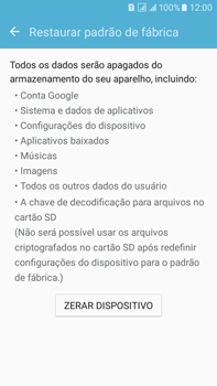Samsung Galaxy On 7 - Funções básicas - Como restaurar as configurações originais do seu aparelho - Etapa 8