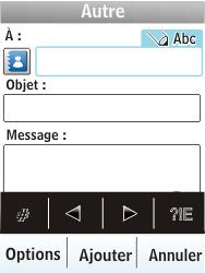 Nokia X3-02 - E-mail - envoyer un e-mail - Étape 6