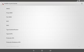 Sony Xperia Tablet Z2 (SGP521) - MMS - configuration manuelle - Étape 11