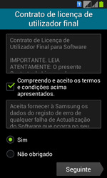 Samsung Galaxy Fresh Duos - Primeiros passos - Como ligar o telemóvel pela primeira vez -  10