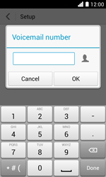 Huawei Ascend Y330 - Voicemail - Manual configuration - Step 10