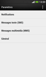 HTC Desire 500 - SMS - configuration manuelle - Étape 5