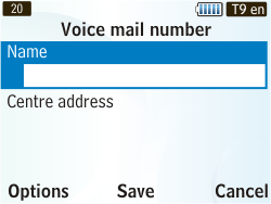 Samsung S3350 Chat 335 - Voicemail - Manual configuration - Step 6