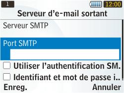 Samsung S3350 Chat 335 - E-mail - Configuration manuelle - Étape 18