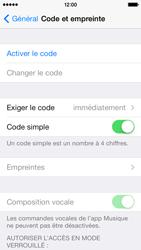 Apple iPhone 5s - Sécuriser votre mobile - Activer le code de verrouillage - Étape 5