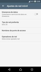 Sony Xperia E5 (F3313) - Red - Seleccionar el tipo de red - Paso 8
