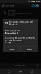 Sony Xperia Z - Bluetooth - Conectar dispositivos a través de Bluetooth - Paso 7